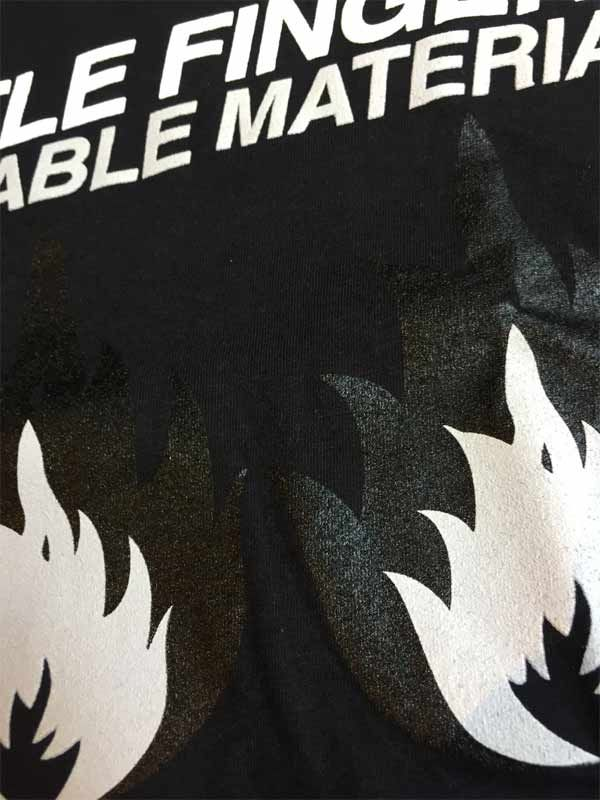 STIFF LITTLE FINGERS Tシャツ INFLAMMABLE MATERIAL OFFICIAL
