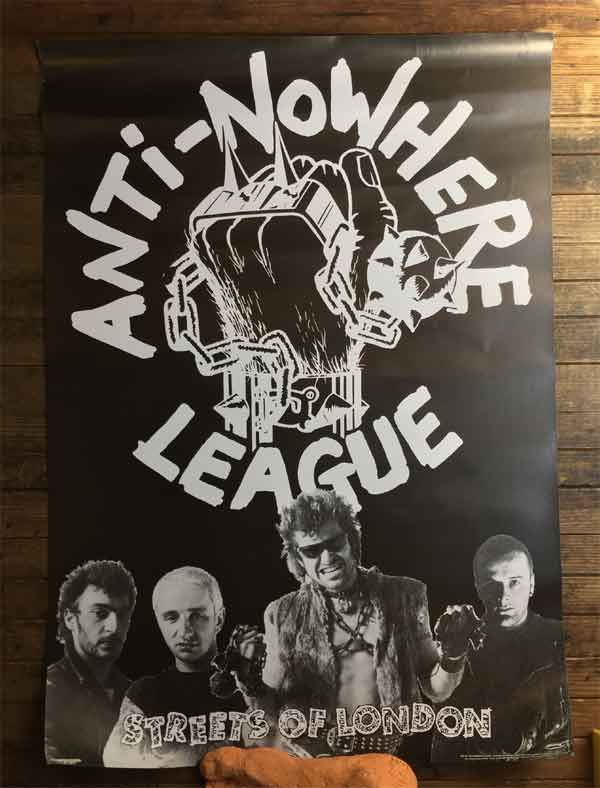 ANTI NOWHERE LEAGUE ポスター