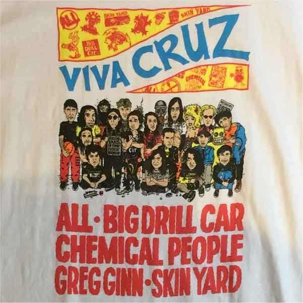 USED! CRUZ RECORDS Tシャツ VIVA CRUZ