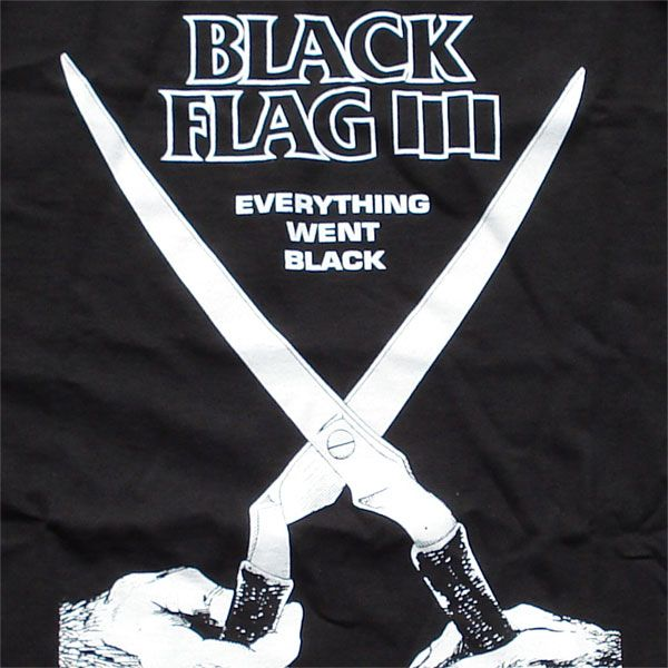 BLACK FLAG Tシャツ EVERYTHING WENT BLACK