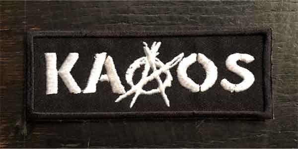 KAAOS 刺繍ワッペン LOGO2