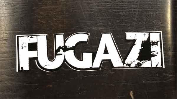 FUGAZI ステッカー ダイカットLOGO