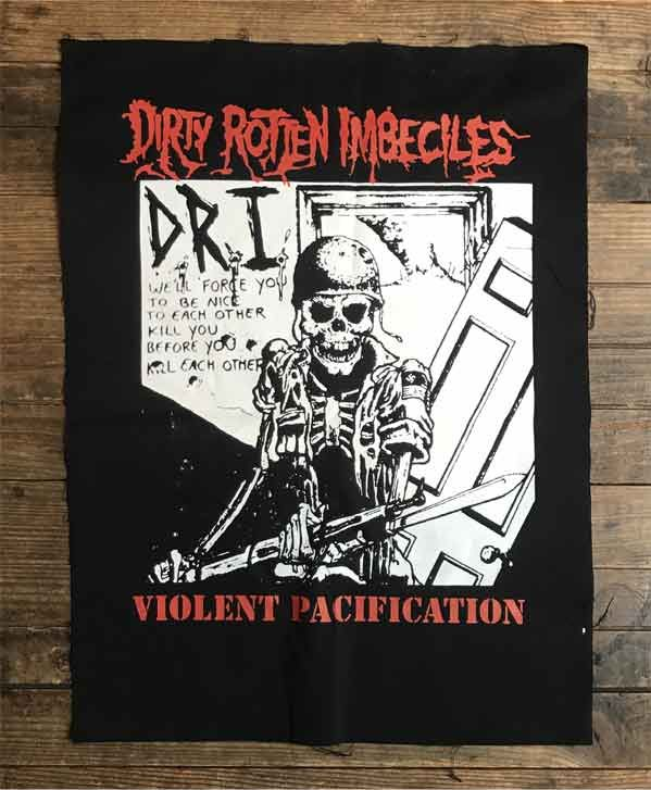 D.R.I. BACKPATCH Violent Pacification