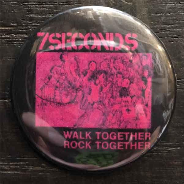 7SECONDS バッジ WALK TOGETHER ROCK TOGETHER