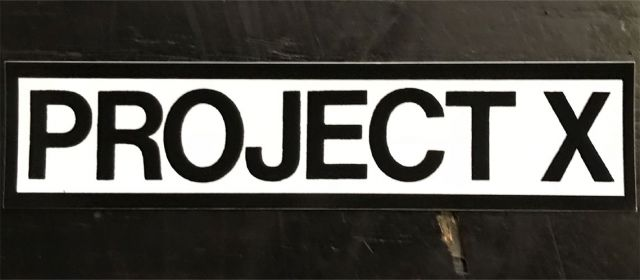 PROJECT X ステッカー NAME
