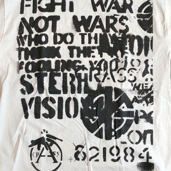CRASS Tシャツ FIGHT WAR NOT WARS