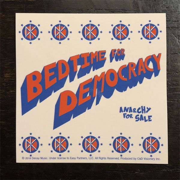 DEAD KENNEDYS ステッカー BED TIME FOR DEMOCRACY 1