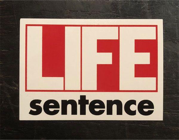LIFE SENTENCE ステッカー 1st