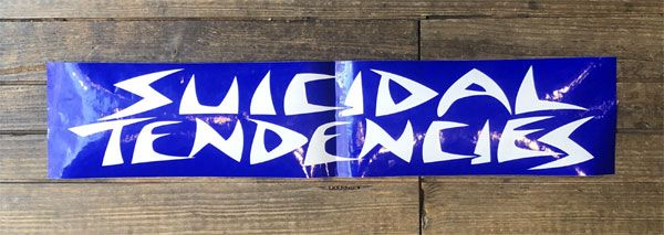 SUICIDAL TENDENCIES 特大ステッカー BIG LOGO
