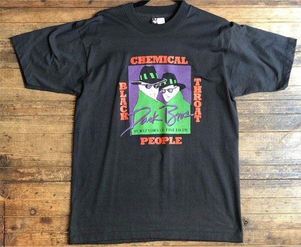 USED! CHEMICAL PEOPLE Tシャツ VINTAGE Black Throat