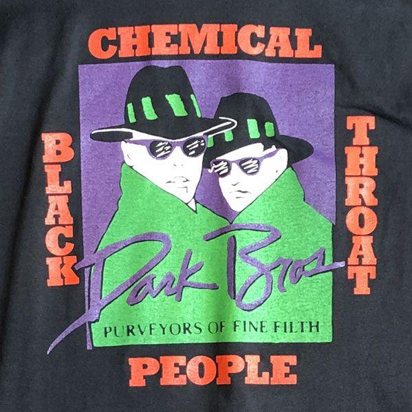 USED! CHEMICAL PEOPLE Tシャツ VINTAGE Black Throat
