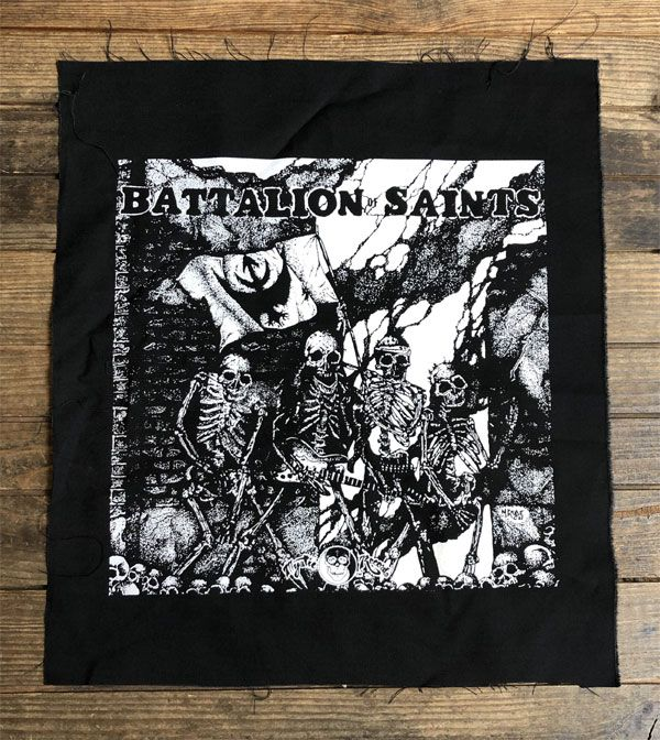 BATTALION OF SAINTS BACKPATCH FIGHTING BOY