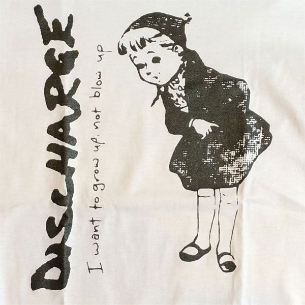 DISCHARGE Tシャツ I WANT TO GROW UP