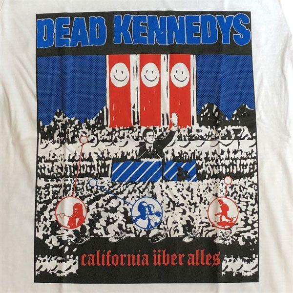 DEAD KENNEDYS Tシャツ CALIFORNIA UBERALLES WHITE オフィシャル!