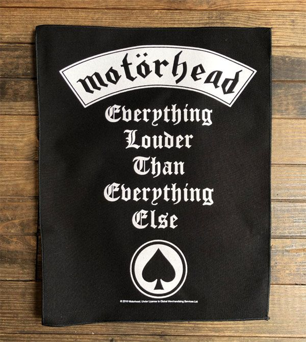 MOTORHEAD BACKPATCH everything louder than everything else