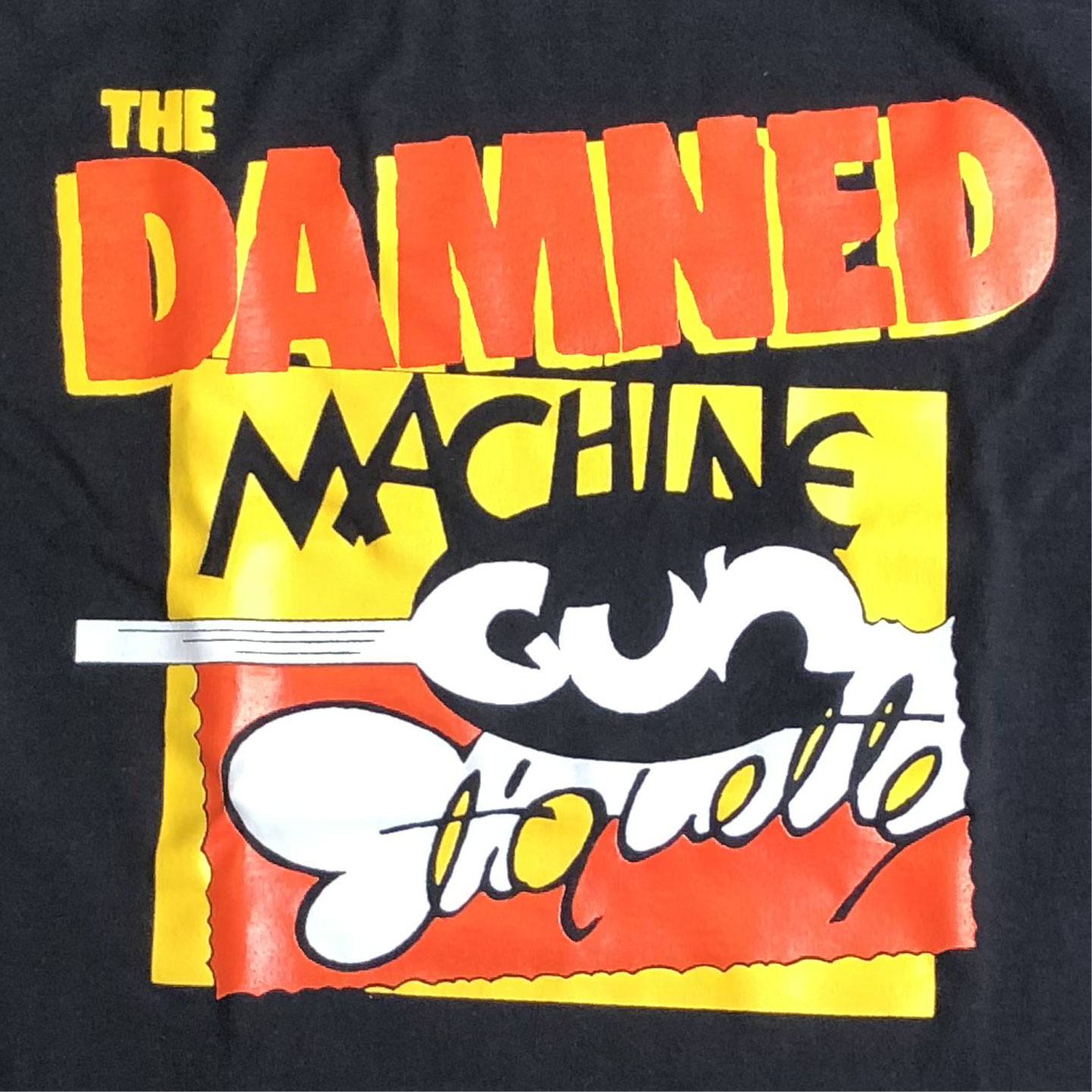 THE DAMNED Tシャツ MACHINE GUN ETIQUETTE オフィシャル
