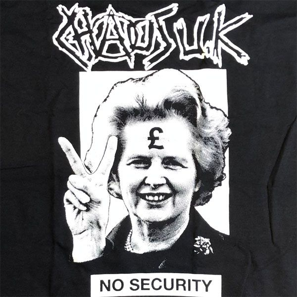 CHAOS UK Tシャツ NO SECURITY