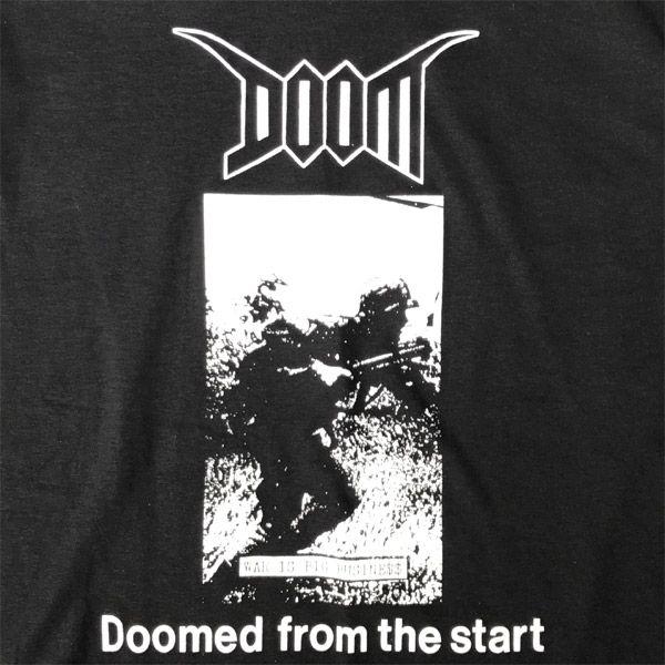 DOOM Tシャツ DOOMED FROM THE START