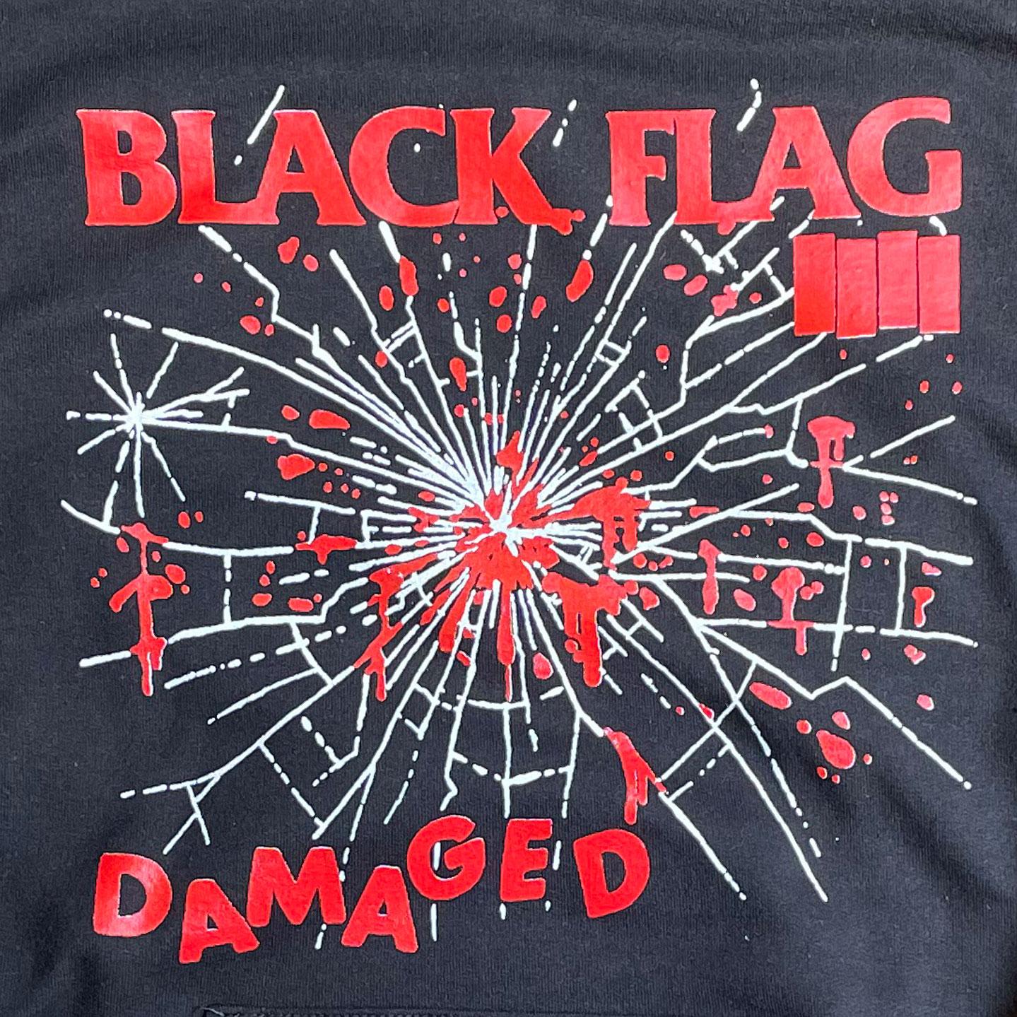 BLACK FLAG パーカー DAMAGED