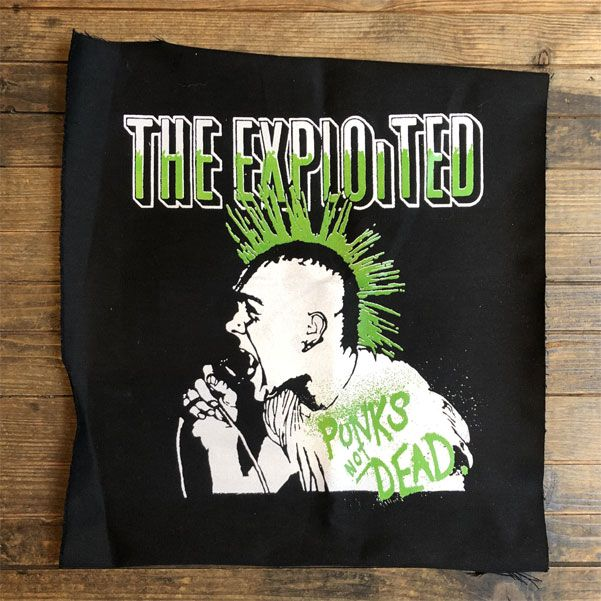 THE EXPLOITED backpatch PUNKS NOT DEAD