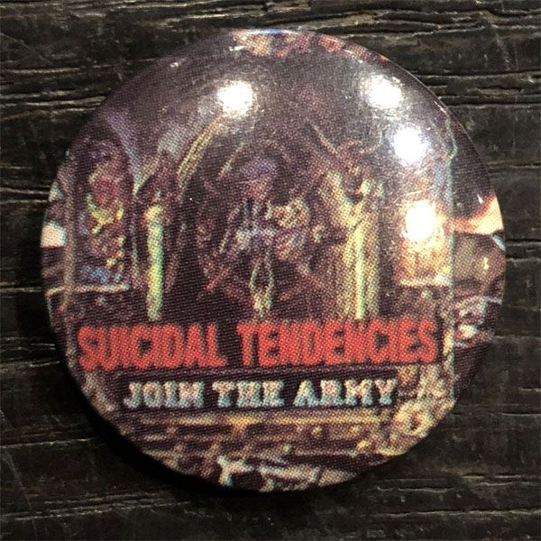 SUICIDAL TENDENCIES レア小バッジ JOIN THE ARMY