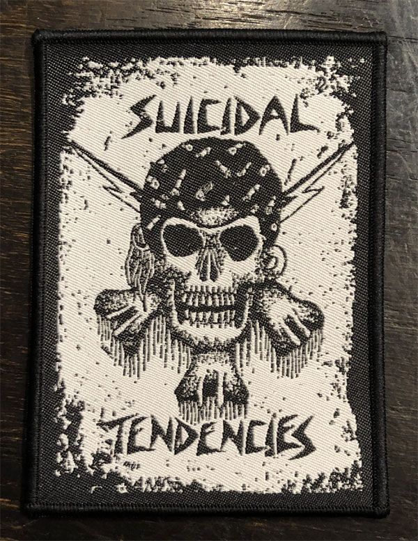 SUICIDAL TENDENCIES 刺繍ワッペン SKULL 2