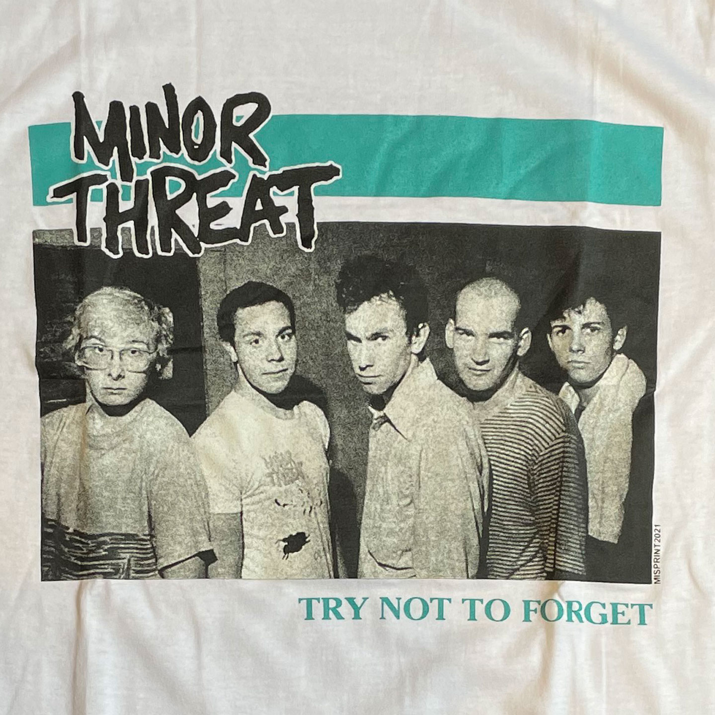 MINOR THREAT Tシャツ TRY NOT TO FORGET
