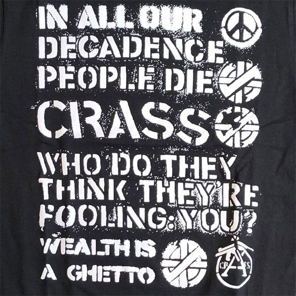 CRASS Tシャツ IN ALL OUR DECACENCE...