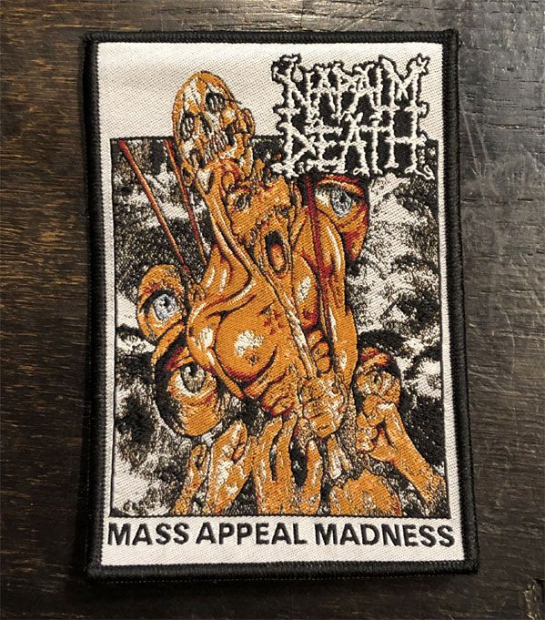 NAPALM DEATH 刺繍ワッペン MASS APPEAL MADNESS