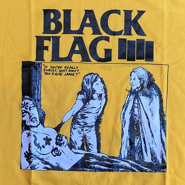 BLACK FLAG Tシャツ IF YOU'RE REALLY CHRIST