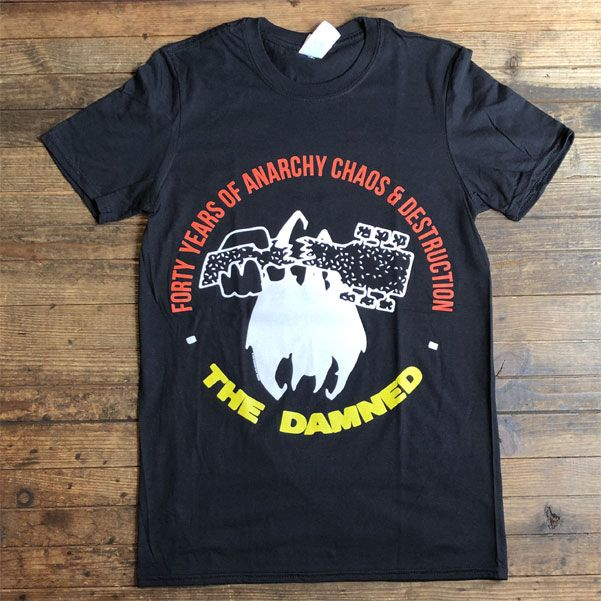 THE DAMNED Tシャツ FORTY YEARS OF ANARCHY CHAOS