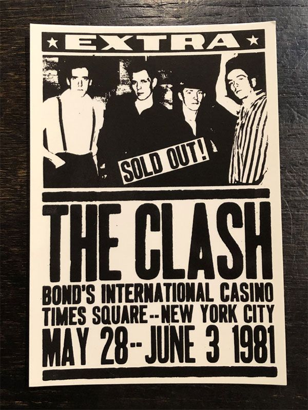 THE CLASH VINTAGEポストカード SOLDOUT