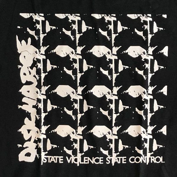 DISCHARGE Tシャツ STATE VIOLENCE STATE CONTROL