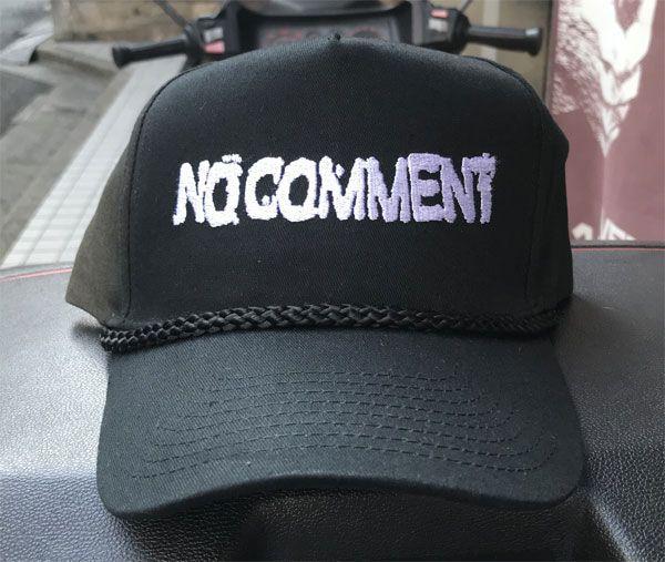 NO COMMENT CAP LOGO