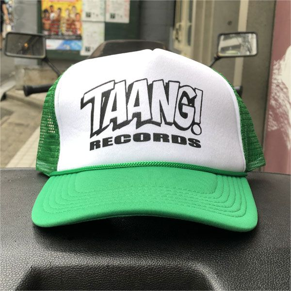 Taang! Records メッシュCAP GREENxWHITE