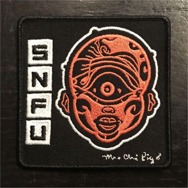 S.N.F.U 刺繍ワッペン Mr. Chi Pig