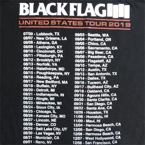 BLACK FLAG Tシャツ USA TOUR オフィシャル LTD.!!!!