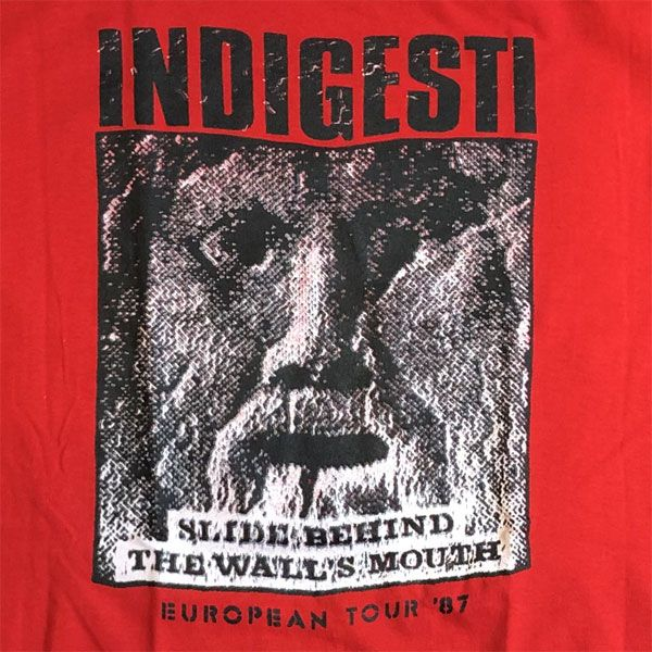 INDIGESTI Tシャツ EUROPEAN TOUR 87 オフィシャル RED