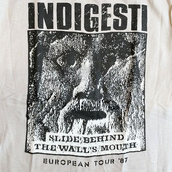 INDIGESTI Tシャツ EUROPEAN TOUR 87 オフィシャル ICE GRAY
