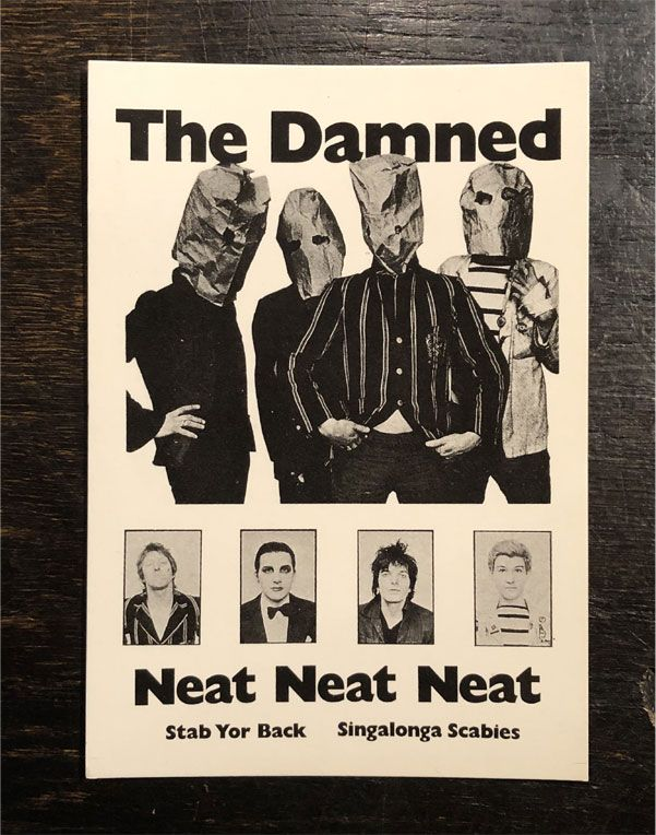 THE DAMNED VINTAGEポストカード NEAT NEAT NEAT