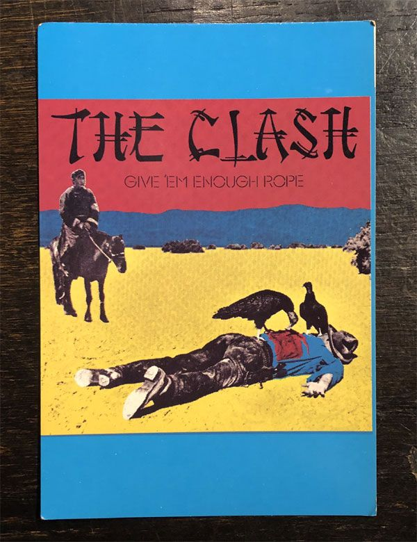 THE CLASH VINTAGEポストカード GIVE 'EM ENOUGH ROPE