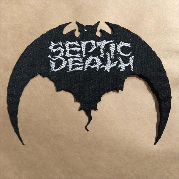 SEPTIC DEATH 刺繍ワッペン ダイカットBAT