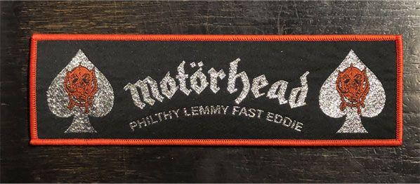 MOTORHEAD 刺繍ワッペン PHILTHY LEMMY FAST EDDIE