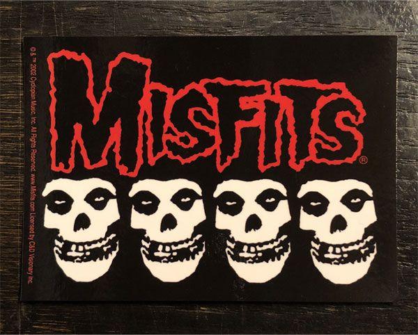 MISFITS ステッカー LOGO and Crimson Ghost