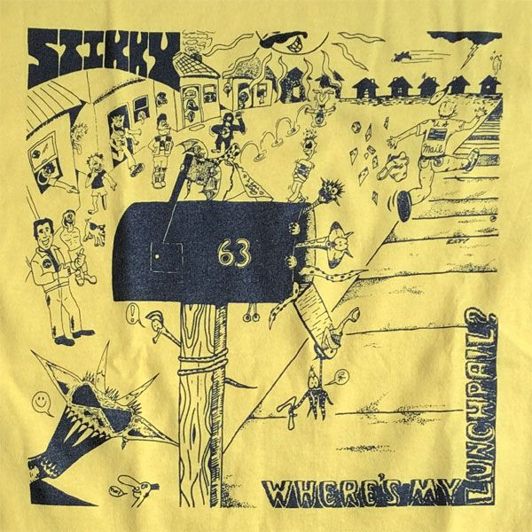 STIKKY Tシャツ where's my lunch pail LP