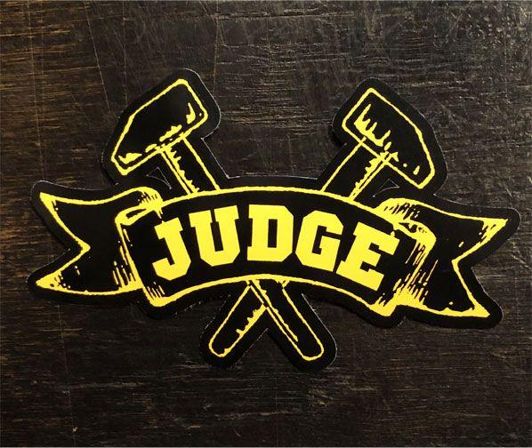 JUDGE ステッカー ダイカットロゴ