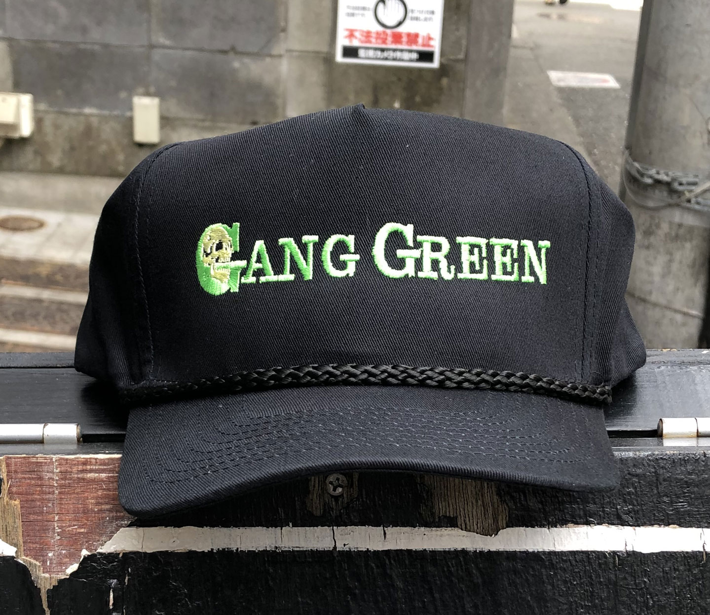 GANG GREEN CAP LOGO2