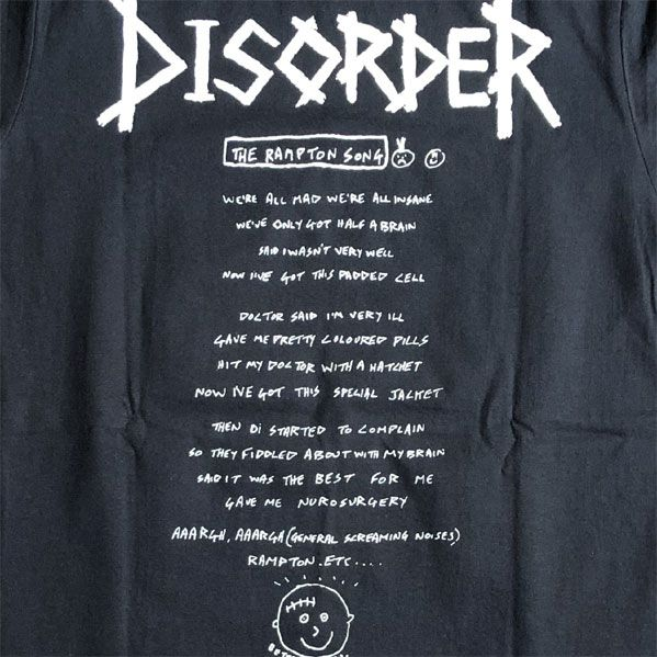 DISORDER Tシャツ MENTAL DISORDER オフィシャル!