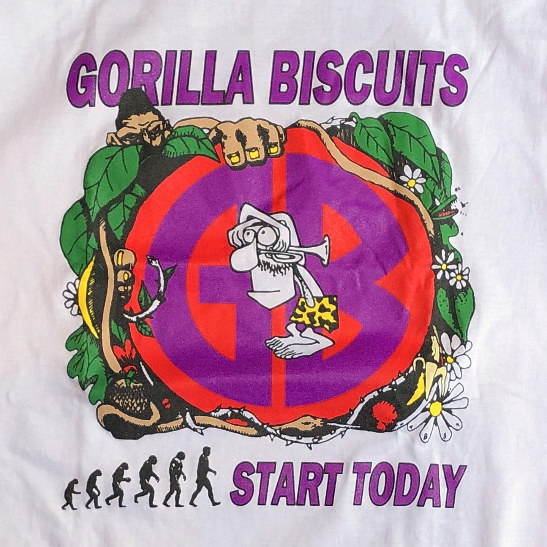 GORILLA BISCUITS Tシャツ EURO TOUR 89