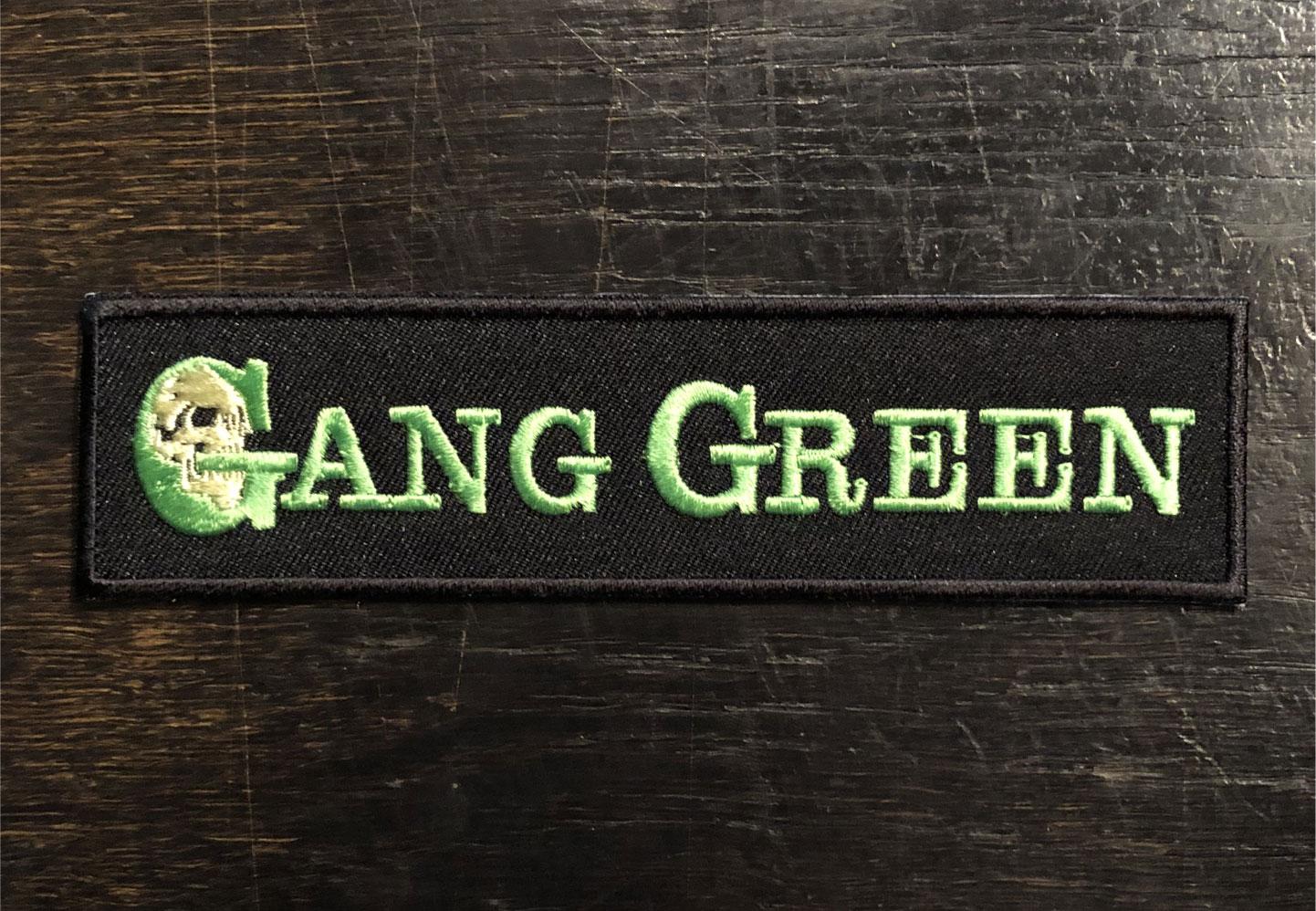 GANG GREEN 刺繍ワッペン LOGO